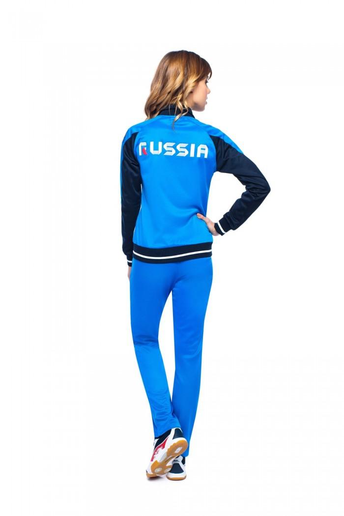 Женский голубой спортивный костюм доставка